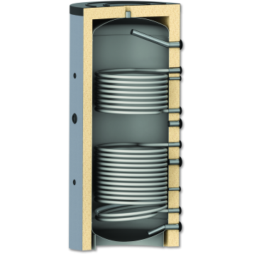 Zbiornik buforowy z dwiema wężownicami 500L model PR2